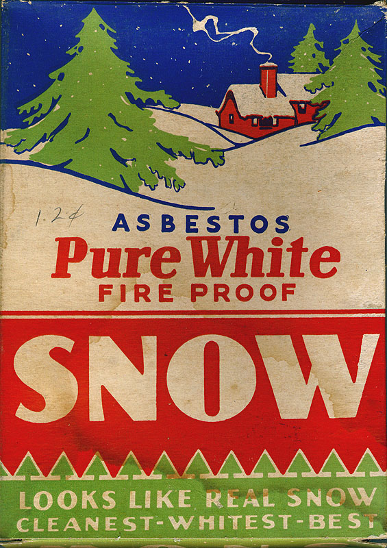 Christmas Tree Asbestos Snow